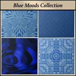 Ceramic tile from the Gingezel Blue Moods Collection.
