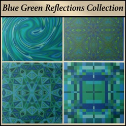 Ceramic tile from the Gingezel Blue Green Reflections Collection