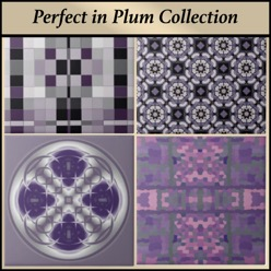 Plum purple ceramic tile from the Gingezel Perfect in Plum Collection.